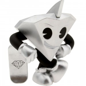 BAIT x Kidrobot x Diamond Supply Co Lil Cutty 3 Inch Figure (silver)