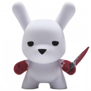 Kidrobot x Luke Chueh Wannabe Flocked Dunny 5 Inch Art Figure (white / red)