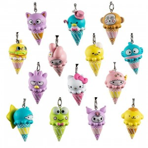 Kidrobot x Sanrio Ice Cream Cone Vinyl Keycahin Series - 1 Blind Box