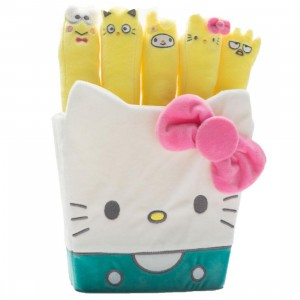 Kidrobot x Sanrio Hello Kitty Fries Plush (yellow / white)
