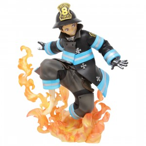 Kotobukiya ARTFX J Fire Force Shinra Kusakabe Statue (black)