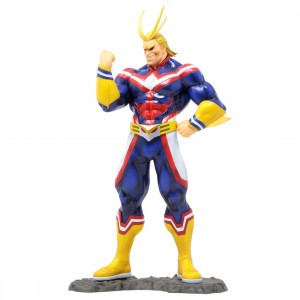 Kotobukiya ARTFX J My Hero Academia All Might Statue With Bonus Face Part (blue)