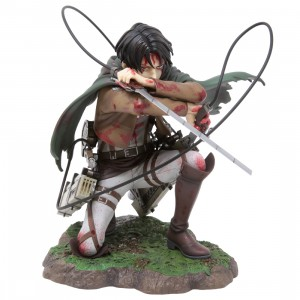 Kotobukiya ARTFX J Attack on Titan Levi Fortitude Ver. Statue (brown)