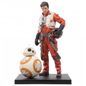 Kotobukiya ARTFX+ Star Wars The Force Awakens Poe Dameron And BB-8 Two Pack Statue (orange)
