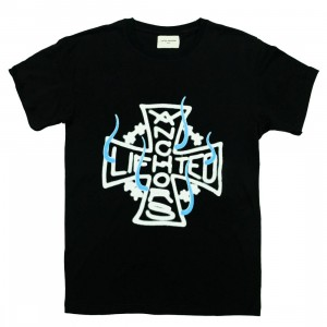 Lifted Anchors Men Airbrush Logo Tee (black)