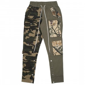 Lifted Anchors Men Harington Split Camo Pants (green / olive)