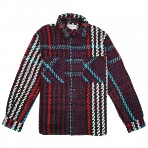 Lifted Anchors Men Interlaced Woven Plaid Shirt (multi)