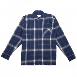 Lifted Anchors Men Furlan Long Sleeve Shirt (navy)