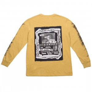 Lifted Anchors Men Flyer Long Sleeve Tee (yellow / mustard)