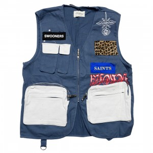 Lifted Anchors Men Warwick Utility Vest (navy)