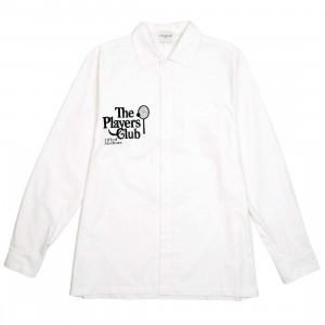 Lifted Anchors Men Social Long Sleeve Button up (white)
