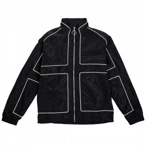 Lifted Anchors Men Vector Windbreaker Jacket (black)