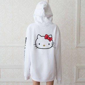 Lazy Oaf X Hello Kitty Women Oversized Hoody (White)