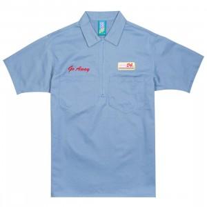 Lazy Oaf x Sailey Men Half Zip Shirt (blue)