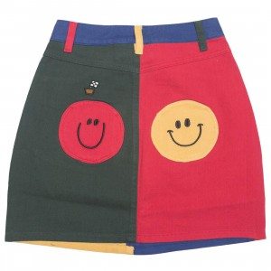 Lazy Oaf x Mr Men Women Mr Wrong Skirt (red / green)