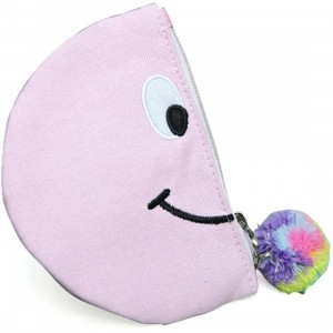 Lazy Oaf Pom Nose Semi Circle Purse (purple / pink)
