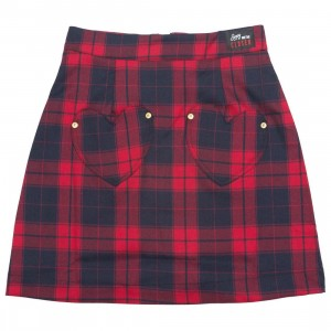 Lazy Oaf Women Sorry We Are Closed Skirt (red)