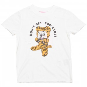 Lazy Oaf Women Don't Get Too Close Tee (white)