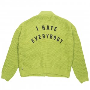 Lazy Oaf x Daria Women I Hate Everybody Cardigan (green)