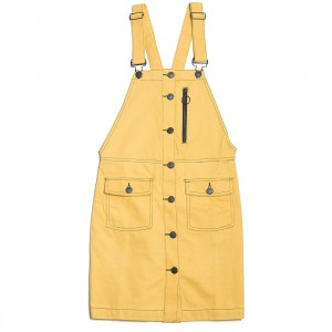 Lazy Oaf Women Yellow Pinafore Dress (yellow)