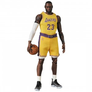 PREORDER - Medicom MAFEX NBA Los Angeles Lakers LeBron James Figure (yellow)
