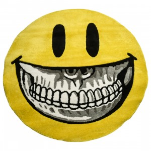 MINDstyle x Ron English 100cm Grin Rug (yellow)
