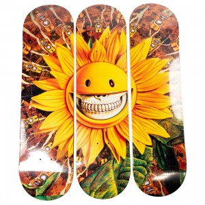 Popaganda x Ron English Sunflower Skateboard Set of 3 Decks (yellow)