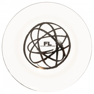 MINDstyle x Futura Laboratories Atom Enamel Coated Metal Plate (white)