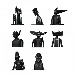 Futura Laboratories 3xverse 3 Inch Collectible Figure - 1 Blind Box (black)