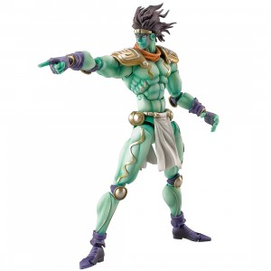 Medicos Super Action Statue JoJo's Bizarre Adventure Part 3 Stardust Crusaders Star Platinum Chozokado Figure Re-Run (green)