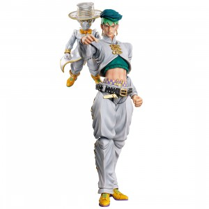 PREORDER - Medicos Super Action Statue JoJo's Bizarre Adventure Part 4 Diamond Is Unbreakable Rohan Kishibe And Heaven's Door Chozokado Figure Re-Run (white)