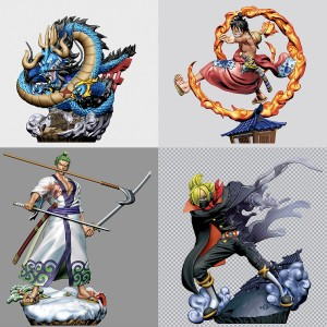PREORDER - MegaHouse One Piece Logbox Re:Birth Wano Country Vol.1 Set of 4 Figures (multi)