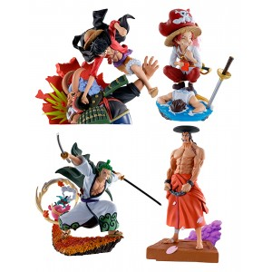 PREORDER - MegaHouse One Piece Wano Kuni Vol. 3 Set of 4 Figures (multi)