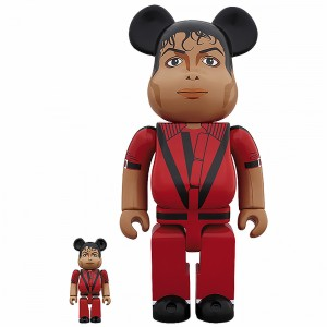 PREORDER - Medicom Michael Jackson Thriller Red Jacket 100% 400% Figure Set (red)
