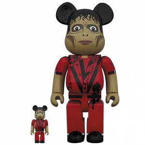 PREORDER - Medicom Michael Jackson Thriller Zombie 100% 400% Figure Set (red)
