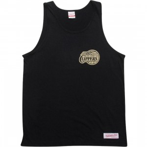 Mitchell And Ness Los Angeles Clippers Copy Of Blank Tank Top (black / gold)