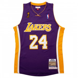 Mitchell And Ness Men NBA Los Angeles Lakers Road Finals 2008-09 Kobe Bryant Authentic Jersey (purple)