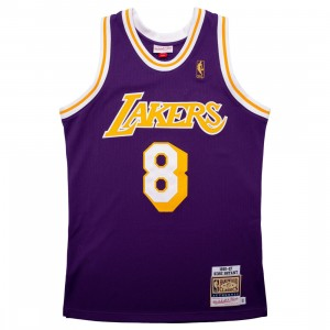 Mitchell And Ness Men NBA Los Angeles Lakers Road 1996-97 Kobe Bryant Authentic Jersey (purple)