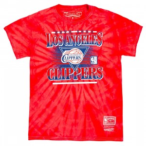 Mitchell And Ness Men LA Clippers Elevate Tee (red)