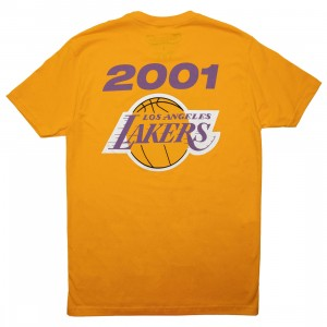 Mitchell And Ness Men NBA Los Angeles Lakers Finals 2001 Tee (yellow)