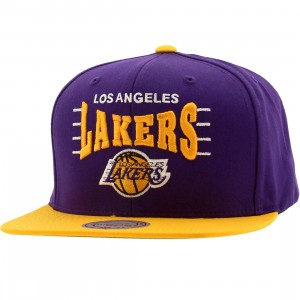 Mitchell And Ness Los Angeles Lakers Zone Squeeze Snapback Cap (purple / gold)