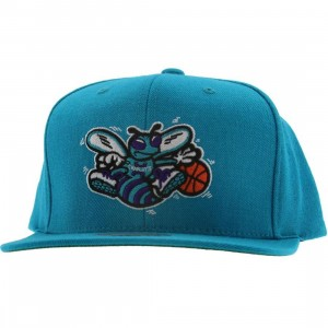 Mitchell And Ness Charlotte Hornets NBA Wool Solid Snapback Cap (teal)