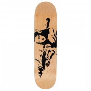 Medicom x SYNC Brandalism Mona Launcher Skateboard Deck (tan)