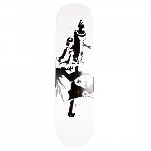 Medicom x SYNC Brandalism Mona Launcher 2nd Skateboard Deck (white)