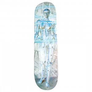 Medicom x SYNC x Hajime Sorayama Men Robot Skateboard Deck (silver)