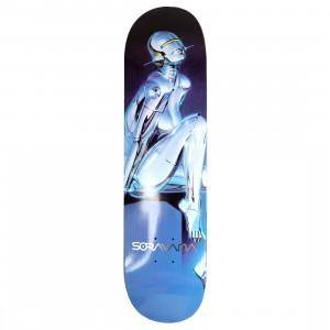 Medicom x SYNC x Hajime Sorayama Men Sexy Robot 04 Skateboard Deck (blue)