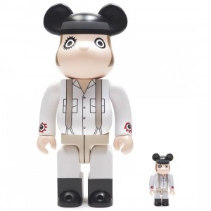 Medicom A Clockwork Orange Alex DeLarge 100% 400% Bearbrick Figure Set (white)