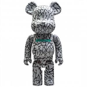 Medicom Atmos Elephant 1000% Bearbrick Figure (gray)