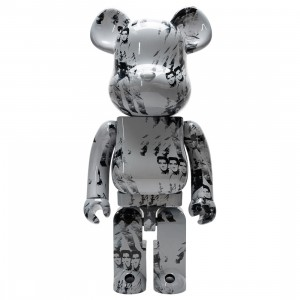 Medicom Andy Warhol's Elvis Presley 1000% Bearbrick Figure (white)