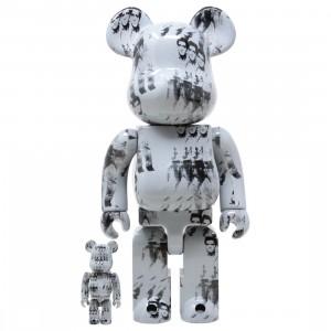 Medicom Andy Warhol's Elvis Presley 100% 400% Bearbrick Figure Set (white)